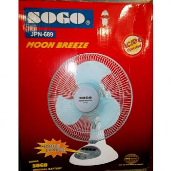 SOGO 12 Inch Rechargeable Fan JPN-677